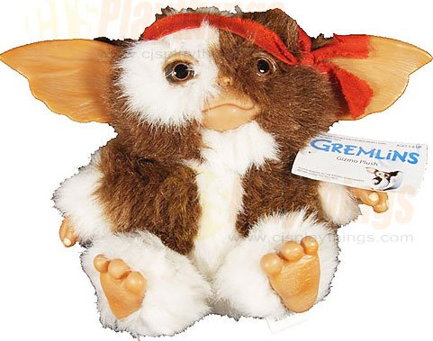 "NECA GREMLINS 6"" inch Rambo GIZMO Plush Doll Rare Collectible"