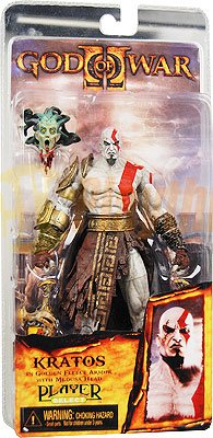 NECA Player Select God of War Kratos w/ medusa head in Golden Fleece Armor