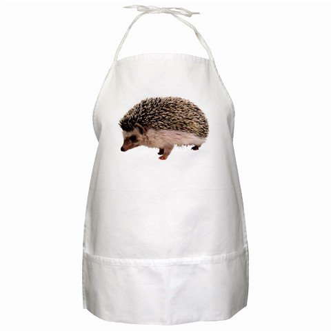Hedgehog BBQ Kitchen Apron with Pockets - 13286578