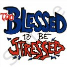 Too Blessed to be Stressed BBQ Kitchen Apron with Pockets  - 13306257