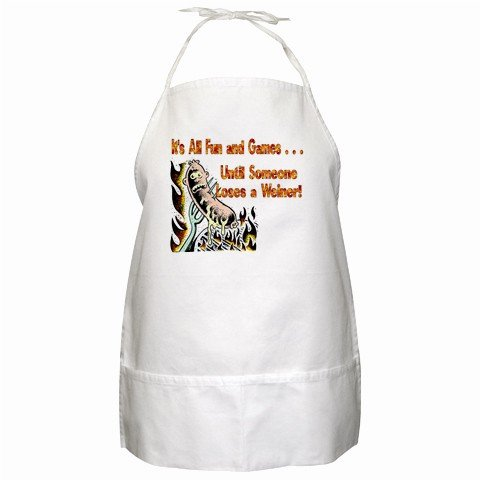 It's All Fun and Games BBQ Kitchen Apron with Pockets  - 13287378