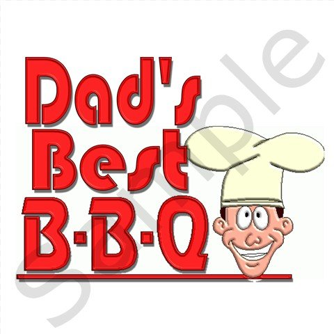 Dad's Best BBQ Kitchen Apron with Pockets  - 13287620