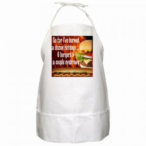Funny Burned Eyebrows BBQ Kitchen Apron with Pockets - 13310294