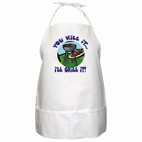 You Kill It I'll Grill It BBQ Kitchen Apron with Pockets - 13287674