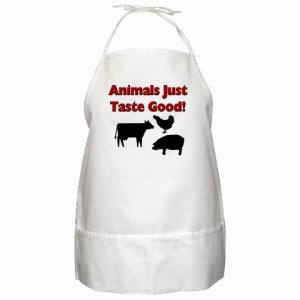 Animals Just Taste Good BBQ Kitchen Apron with Pockets - 13287679