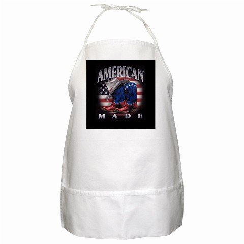 American Made BBQ Kitchen Apron with Pockets - 13318622