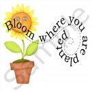 """Bloom Where You Are Planted"" BBQ Kitchen Apron with Pockets - 13399330"