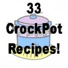33 Crockpot RECIPES  Cookbook Ebook