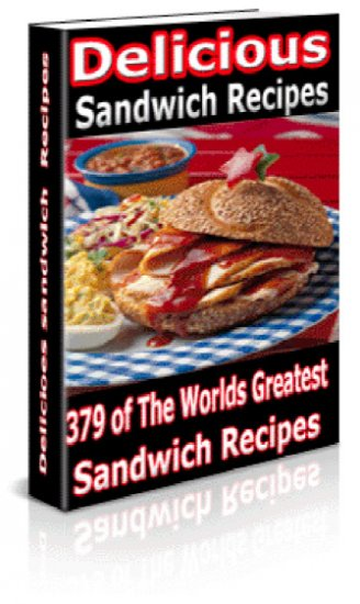 HUGE 379 Sandwich RECIPES  Cookbook Ebook