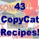 43 Copycat  RECIPES  Cookbook Ebook