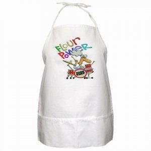 Flour Power Cartoon Kitchen Apron with Pockets  20575805