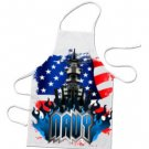 NAVY Full design BBQ Kitchen Apron  #CT
