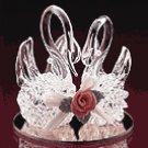 Spun Glass Twin Swans