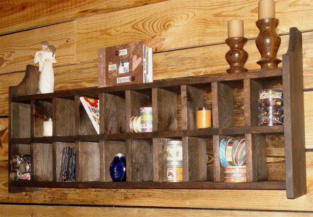 Handmade Postman Display Cubby Unit