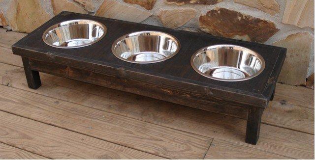 3 Bowl Custom Pet Feeder