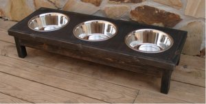 3 Bowl Custom Pet Feeder