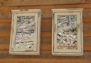 Custom Medicine Cabinet Set of 2 With Mirrors
