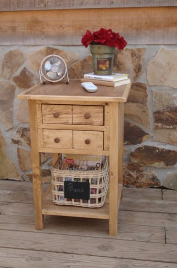 Custom Made Apothecary Table with Shelf - You pick the color!