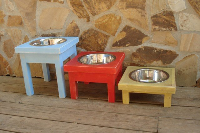 Single Elevated Dog Feeder - Bowl Included