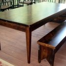 Farm Table and Bench Set -- Seats 8