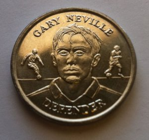 2004 Gary Neville Official England Squad Medal