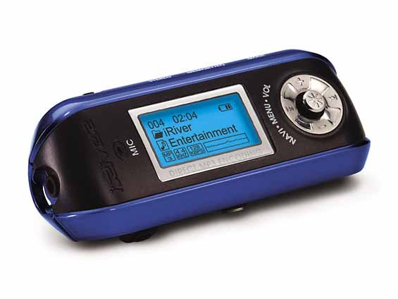 iRiver 128Mb Ultra-Portable MP3 Player/Recorder and FM Radio