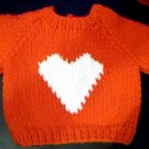 Handmade Valentine Heart Sweater for 18 inch American Girl Doll