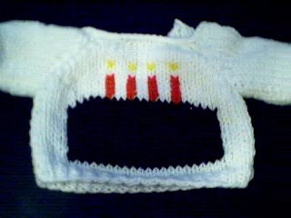 Handmade Birthday Cake Sweater for 18 inch American Girl Doll