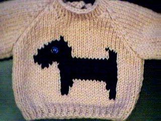 Handmade Scottish Terrier Dog Sweater for 18 inch American Girl Doll