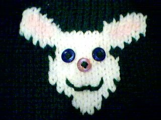 Handmade Easter Bunny Sweater for 18 inch American Girl Doll