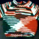 Handmade Multicolored Sweater for 18 inch American Girl Doll