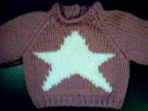 Handmade Star Sweater for 18 inch American Girl Doll