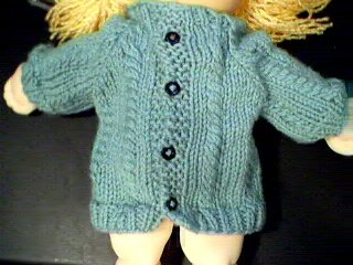 Handmade Cardigan Sweater for 16 inch Cabbage Patch Kid Doll