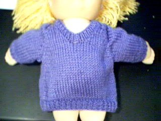 Handmade Solid Color V Neck Pullover Sweater for 16 inch Cabbage Patch Kid Doll