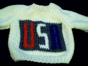 Handmade USA Patch Sweater for 16 inch Cabbage Patch Kid doll