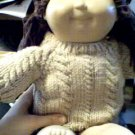 Handmade Rope Cable Twist Sweater for 15 inch Bitty Baby Doll