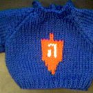 Handmade Jewish Hanukkah Dreidel Sweater for 15 inch Bitty Baby Doll