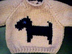 Handmade Build A Bear Sweater - Scottish Terrier Dog