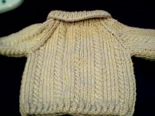 Handmade Build A Bear Cub Sweater - Cable Twist