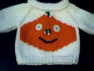 Handmade Build A Bear Cub Sweater - Jack O Lantern