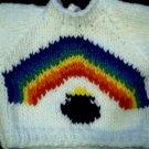 Handmade Build A Bear Cub Sweater - Pot of Gold Rainbow