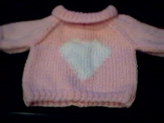 Handmade Build A Bear Cub Sweater - Single Heart