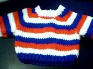 Handmade Build A Bear Cub Sweater - Three Stripes
