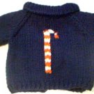 Handmade Baby Born Doll Sweater - Candy Cane