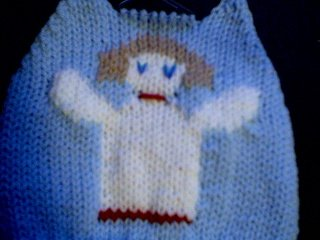 Handmade Baby Born Doll Sweater - Christmas Angel