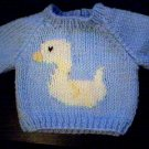 Handmade Baby Born Doll Sweater - Duck