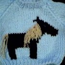 Handmade Baby Born Doll Sweater - Horse