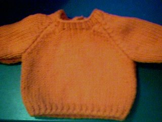 Handmade Baby Born Doll Sweater - Plain Pullover