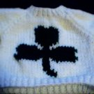 Handmade Baby Born Doll Sweater - Shamrock