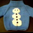 Handmade Baby Born Doll Sweater - Snowman